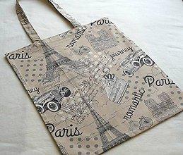 Nákupné tašky - EKO nákupka č.11  I love Paris - 9150652_