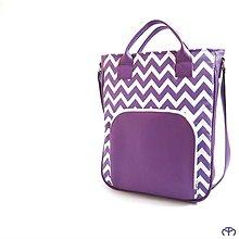 Veľké tašky - CITY - Chevron (lila) - 9152945_