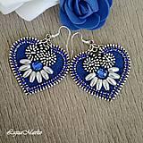- Mini ľudové náušnice (Modrá) - 9152046_