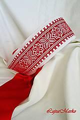 Opasky - Moderný folk (Červená) - 9152253_