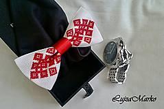 Doplnky - Chanel na ľudovo motýlik  (Červená) - 9152270_