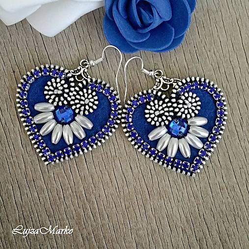 Mini folk náušnice (Modrá)