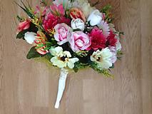 Dekorácie - Kytica svadobná-gratulacna-zlava - 9151195_