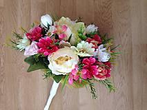 Dekorácie - Kytica svadobná-gratulacna-zlava - 9151196_