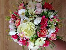 Dekorácie - Kytica svadobná-gratulacna-zlava - 9151197_
