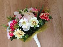 Dekorácie - Kytica svadobná-gratulacna-zlava - 9151198_