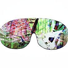 Úžitkový textil - Maska na spanie - NASTAVITELNÁ!! (Zelená) - 9150451_
