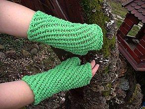 Rukavice - Boso po tráve, rukavice - 9152427_