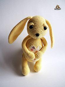 Návody a literatúra - Návod  na háčkovaného zajačika(cca 25cm) - 9156597_