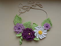 Náhrdelníky - Háčkovaný náhrdelník - 9157108_