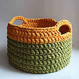 Košíky - Košík - Žltý | Horčicový | Zelený | svetlý | s uškami | GIANT | tričkoVlna - 9157112_