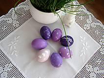 Dekorácie - Veľkonočné fialovo- orgovánové - 9157493_
