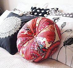 Úžitkový textil - Pampúšik - červeno-vínový - 9156428_