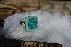 Prstene - Prsteň tyrkysový z ľadového kráľovstva :o)). - 9154546_