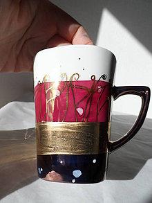 Nádoby - bordovo-bronzová so zlatom - 9157425_