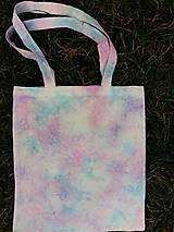 Nákupné tašky - batikovaná ľanová taška - 9157518_