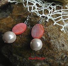 Náušnice - perleťové ováliky - 9153640_