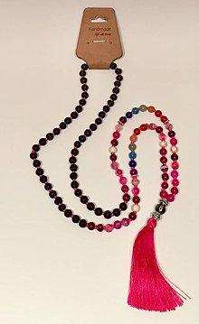 Iné šperky - MALA korale, ČAKRY, STRAPEC, YOGA, MALA 108 beads with tassel, CHAKRAS - 9154757_