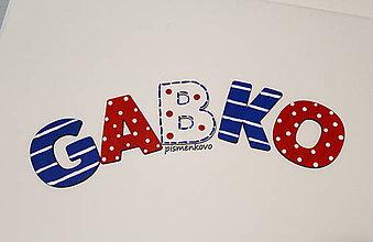 Tabuľky - GABKO pismenka pre chlapca - 9155027_