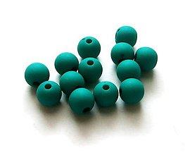 Korálky - Korálky matné 8 mm - 50 ks (smaragd) - 9155739_