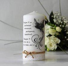 Svietidlá a sviečky - Dekoračná sviečka