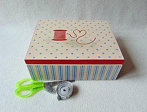 Krabičky - Krabička- organizér Pre šikovnú žienku (Modrá) - 9154801_