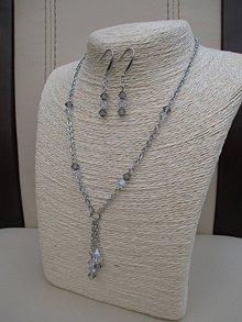 Sady šperkov - Swarovski-chirurgická oceľ-náhrdelník-náušnice - 9156684_