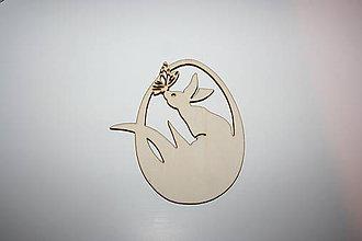 Polotovary - Veľkonočné vajíčko 13x11cm - 9156566_