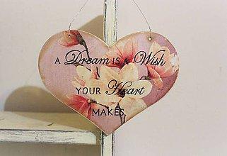 """Tabuľky - tabuľka """"dream"""" - 9156742_"""