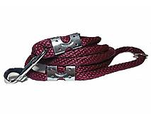 Pre zvieratká - Vodítko burgund 14 mm, délka 160 cm - 9154163_