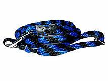 Vodítko modro-čierne 14 mm, délka 160 cm