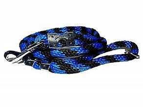 Pre zvieratká - Vodítko modro-čierne 14 mm, délka 160 cm - 9154431_