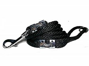 Pre zvieratká - Vodítko čierne 10 mm, délka 160 cm - 9154480_