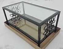 Nábytok - Konferenčný stolík so sklom - 9157846_