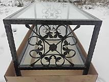 Nábytok - Konferenčný stolík so sklom - 9157855_