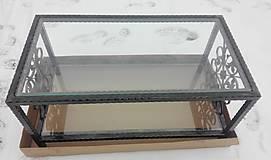 Nábytok - Konferenčný stolík so sklom - 9157858_