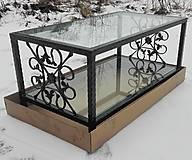 Nábytok - Konferenčný stolík so sklom - 9157869_
