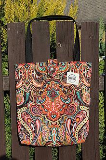 Nákupné tašky - Taška pro slečny a paní- Oranžový orient - 9154128_