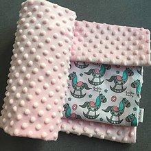 Textil - deka s húpacími koníkmi - 9155768_