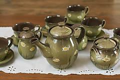 Nádoby - Keramická súprava Margarétky - 9155435_
