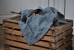 Úžitkový textil - ľanové plátno na chlieb (platinovo sivé) - 9154932_