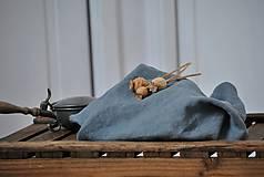 Úžitkový textil - ľanové plátno na chlieb (platinovo sivé) - 9154934_