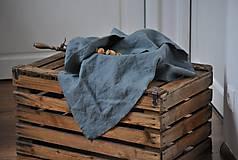 Úžitkový textil - ľanové plátno na chlieb (platinovo sivé) - 9154935_
