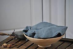 Úžitkový textil - ľanové plátno na chlieb (platinovo sivé) - 9154936_