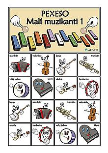 Hudobné nástroje - Malí muzikanti 1 - 9157277_