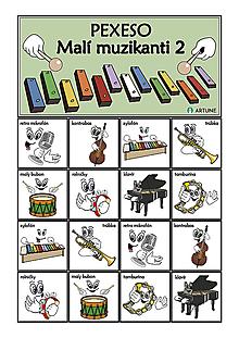 Hudobné nástroje - Pexeso Malí muzikanti 2 - 9157437_