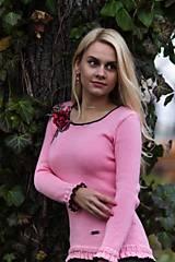 Svetre/Pulóvre - Ružový pulóver s kvetinovým vzorom - 9156305_