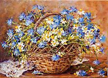 Obrazy - Košík kvitne - 9155708_