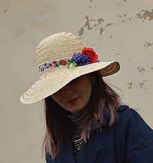 Čiapky - Klobúk- poľné kvety - 9156858_