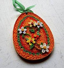 Dekorácie - Veľkonočné vajíčko - orange 2 - 9155164_